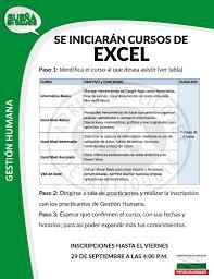 Hoy finalizan las inscripciones a los cursos de Excel – NOTIFLA