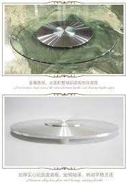 Glass Lazy Susan Turntable by Modern Design Glass Table Top Lazy Susan Turntable View Glass
