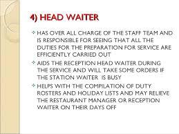 Waiter Job Description Resume Job Description For Head Waiter Head Waitress Resume Waiter Job