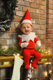 dad of six turns his baby into adorable elf on the shelf bored panda
