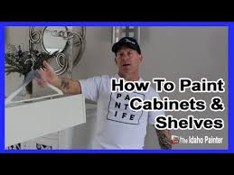 Painter Kitchen Cabinets by How To Paint Cabinet Doors Painting Kitchen Cabinets Easy Youtube