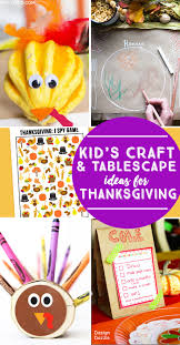 kids craft and tablescape ideas for thanksgiving