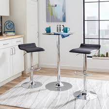 Black Backless Counter Stools 4 Contemporary Backless Counter Height Bar Stools For Modern