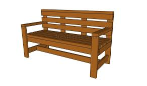 Plans For A Wooden Bench by Outdoor Bench Plans Howtospecialist How To Build Step By Step