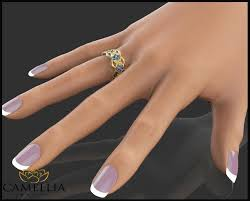 butterfly rings gold images 14k yellow gold blue sapphire ring butterfly ring unique jpg