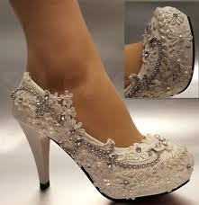 wedding shoes bridal 3 4 white light ivory lace wedding shoes bridal heels