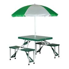 Sports Chair With Umbrella Amazon Com Stansport Picnic Table And Umbrella Combo Pack Green