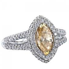 marquise cut diamond ring 1 55 tcw yellow marquise cut diamond engagement ring 14k