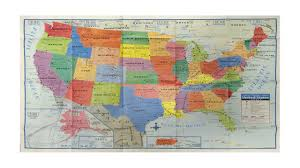 Map Us Usa by Amazoncom 48x78 United States Classic Premier 3d Laminated Wall