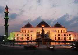 design masjid indah masjid agung sultan mahmud badaruddin palembang indonesia