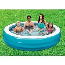 Plastic Swimming Pools At Walmart Chromadepth 3d Round Family Pool Walmart Com
