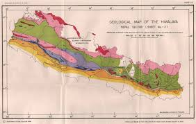 Himalayan Mts Map 1989 Geological Map Of The Himalaya U2013nepal Sector By Shankar