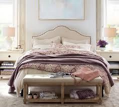 bed head board fallon upholstered bed headboard pottery barn