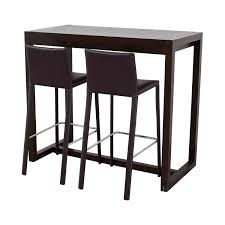 Unfinished Bistro Table Glass High Top Table And Chairs Modern Furniture For Dining Bar