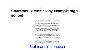character sketch essay example high google docs