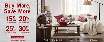 2017 pottery barn buy more save more sale furniture