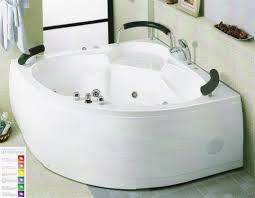 high end corner jacuzzi tub for two with shower combo design