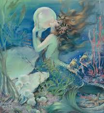 149 mermaids images merfolk vintage mermaid