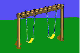 Backyard Playground Plans by Diy Swing Set Frame Hang The Swing Assemblies On The Eye Bolts