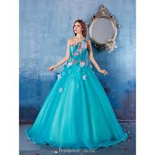 australia formal evening dress sky blue ball gown one