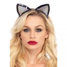 sequin kitty cat ears cosplay halloween costume ears