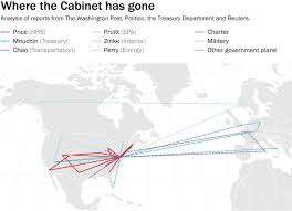 nearly six dozen flights on charter military or government owned