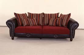 sofa kolonialstil big sofa carlos dunkelrot dunkel grau sb möbel discount
