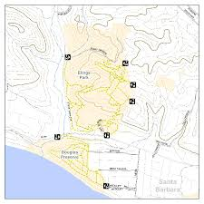 Carpinteria State Beach Campground Map by Santa Barbara Elings Park Hiking Trails Day Hikes Biking