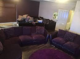 Purple Corner Sofas Stunning Purple Scs Corner Sofa With 2 Seater Half Leather Half