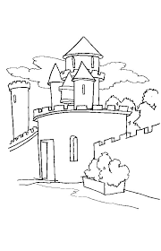 kids fun 20 coloring pages castles