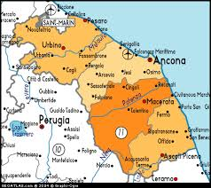 map of perugia map of marche map marche italy italy atlas