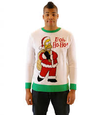 simpsons homer doh ho ho off white sweater
