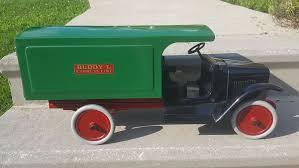 vintage buddy l express line pressed steel toy truck toy trucks