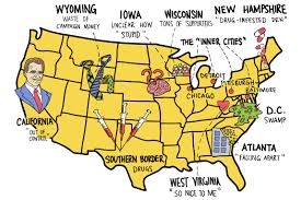Map Of West Virginia State Map Of Usa by Map Of America According To Donald Trump Washington Post