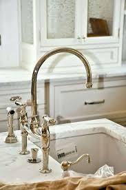 brushed nickel faucet with stainless steel sink bridge faucet bathroom simpletask club