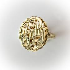 monogram ring gold jewelers monogram name ring