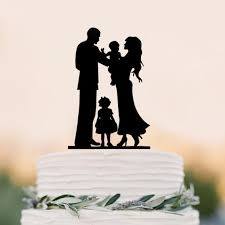 wedding cake topper sweet home family girl