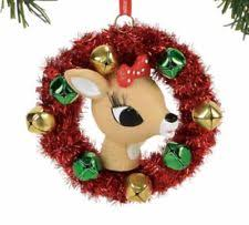department 56 rudolph and clarice reindeer tree ornament