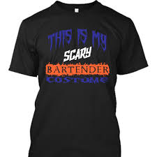 t shirts halloween this is my scary bartender costume halloween t shirt and hoodie