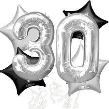 30th birthday balloon bouquets 30th birthday balloon bouquet age 30 black silver foil