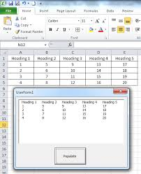 excel vba how to populate data from a range multiple rows and