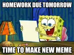Spongebob Homework Meme - nude pics of patrick i think yes procrastinating spongebob