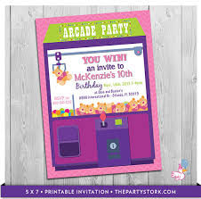 custom invites arcade invitation printable personalized birthday party
