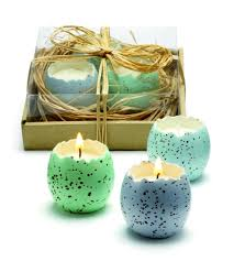 cracked egg candles set of 3