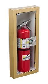 semi recessed fire extinguisher cabinet semi recessed buena fire extinguisher cabinet potter roemer