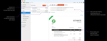 create quotes estimates with zoho invoice