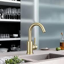 kitchen cabinet sink faucets hoimpro single handle bar sink faucet single bathroom vanity faucet rv 360 swivel small bar faucet bathroom