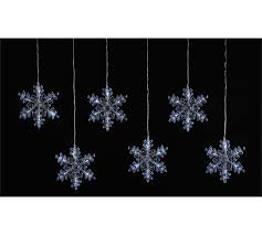snowflake lights buy 6 snowflake window lights at argos co uk your online shop