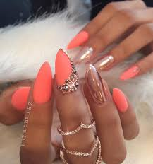 50 almond nail designs metallic almond nail art and almond nails