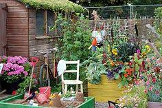 Garden Allotment Ideas Reclaimed Sleepers Allotments Garden Veg Pottage Pinterest